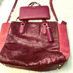 Kate Spade Plum handbag with large wallet